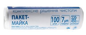 Пакет-майка 22х45 см 100шт 7мкм 10200510