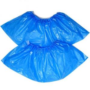 Бахилы BUROCLEAN 10600300 50 пар полиэтиленовые голубые