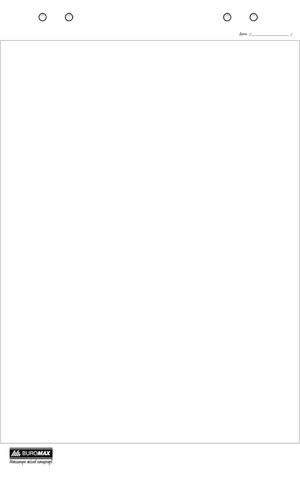Блок бумаги для флипчартов 20 листов 64х90см Buromax BM.2296-00