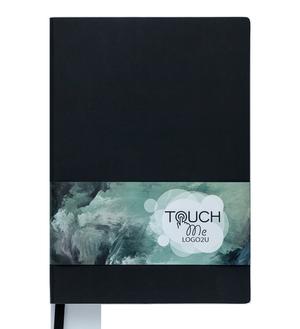 Блокнот деловой А5 TOUCH ME LOGO2U 96 листов, клетка, обложка искусственная кожа Buromax BM.295102