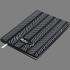 Блокнот деловой RELAX А5, 96 листов, линия, обложка искусственная кожа Buromax BM.295201
