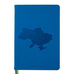 Блокнот деловой UKRAINE А5, 96л., линия, искусственная кожа, синий BUROMAX BM.295220-02