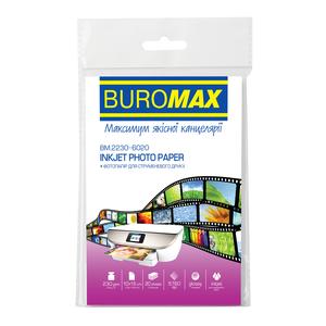 Фотобумага глянцевая 10х15см  230 г/м²  20 листов  Buromax BM.2230-6020