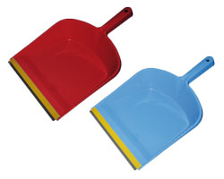 Совок для мусора с резиновой насадкой BuroClean 10300401 ассорти