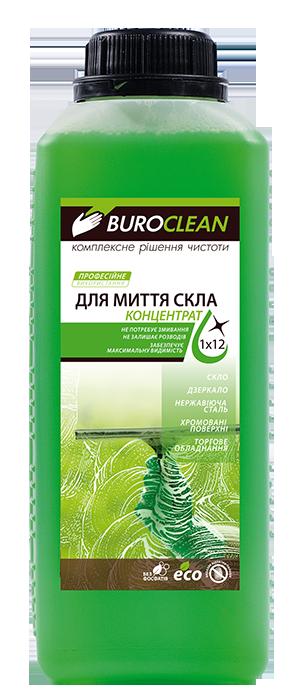 Моющее бесфосфатное средство для стеклянных и зеркальных поверхностей, 1 л, BUROCLEAN SOFT Industry-3 BuroClean, 10900020