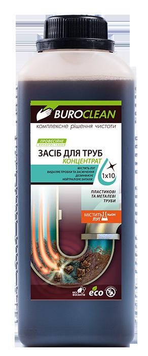 Средство для прочистки канализационных труб бесфосфатное BUROCLEAN SOFT Dez-2 1л BuroClean 10900040