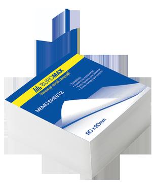 Блок бумаги для заметок белый 90х90х30 мм не склеенный Buromax BM.2209