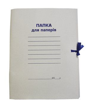 Папка на завязках А4 картонная Buromax BM.3356