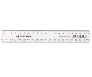 Линейка пластиковая JOBMAX  20см Buromax BM.5829-20 прозрачная