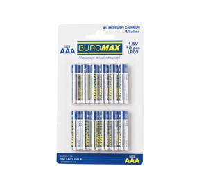 Набор элемент питания (батарейка) LR03 12 шт/упак BUROMAX BM.590