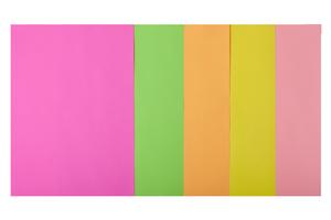 Набор цветной бумаги А4, 80г/м2, NEON, 5 цв., 50 листов BUROMAX BM.2721550-99