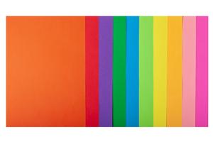 Набор цветной бумаги А4, 80 г/м2, NEON+INTENSIVE, 10 цветов, 50 листов BUROMAX BM.2721850-99