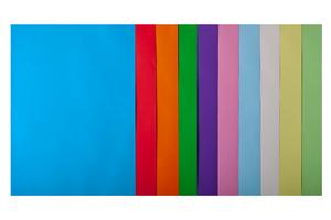Набор цветной бумаги А4, 80г/м2, PASTEL+INTENSIVE, 10 цветов, 20 листов BUROMAX BM.2721620-99