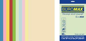 Набор цветной бумаги Euromax А4, 80г/м2, PASTEL INTENSIVE, 10 цветов, 50 листов BUROMAX BM.2721650E-99