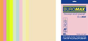 Набор цветной бумаги Euromax А4, 80г/м2, PASTEL NEON, 10 цветов, 50 листов BUROMAX BM.2721750E-99