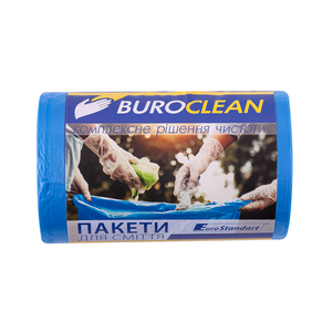Пакеты для мусора EuroStandart синие, 35 л, 100 шт, BuroClean, 10200023
