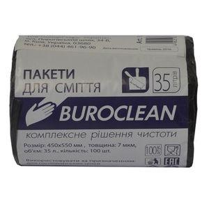 Пакеты для мусора Eurostandart плотные черные, 35 л, 100 шт, BuroClean, 10200022