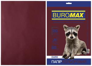 Бумага цветная А4, 80г/м2, DARK, 20л, BUROMAX BM.2721420