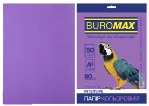 Бумага цветная А4, 80г/м2, INTENSIVE, 50л, BUROMAX BM.2721350