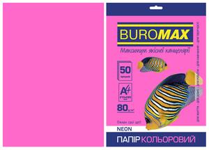 Набор цветной бумаги А4, 80г/м2, NEON, 50 листов BUROMAX BM.2721550
