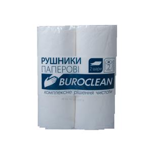 Полотенца целлюлозные, 2 рулона,  2 слоя, 38 отрывов, Buroclean, 10100400