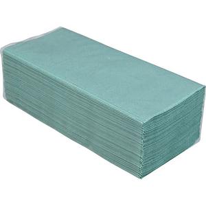 Полотенца макулатурные BUROCLEAN 10100107 V-образные 200 штук зеленые