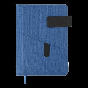 Щоденник недатований GALAXY, A5, синій, штучна шкіра/поролон
