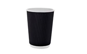 Стакан бумажный гофра (350 мл), термо, 25шт/уп, BUROCLEAN 1080025