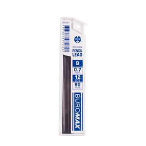 Стержни для механических карандашей, B, 0.7 мм, 12 шт. BUROMAX BM.8664