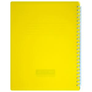 Тетрадь на пружине В5 UKRAINE 96 листов клетка с разделит. пластиковая обложка Buromax BM.2464-85
